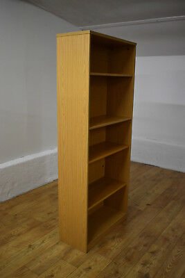 Light Oak Office Bookcase Adjustable Shelving 800mm x 1950mm Last Available