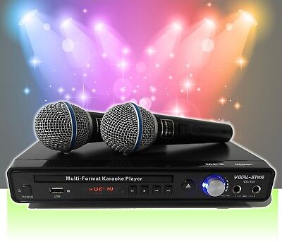 Vocal-Star VS-400 CDG DVD Karaoke Machine With 2 Microphones and Songs