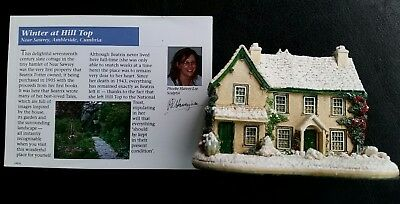 Lilliput Lane Winter At The Hill Top House L3360 2010 Handmade In England