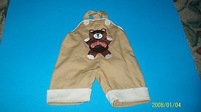 CABBAGE PATCH KIDS    DOLL CLOTHES, coleco TEDDY BEAR overalls