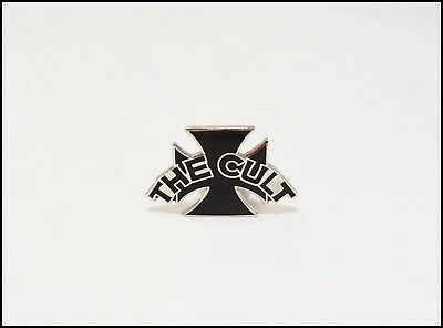 The Cult 1989 Reprise Records Promo Pin Pinback Iron Cross