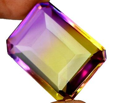 46.50 Ct Certified Octagon Cut Yellowish Purple Alexandrite Gemstone-Xmas Gift