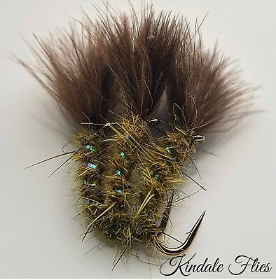 Olive Cdc Holo Suspender Buzzer Size 12 (Set of 3) Fly Fishing Flies Trout