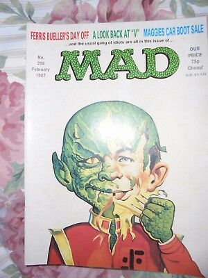 Mad Magazine Feb 1987 A Look Back At V