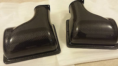 FERRARI F430 Real Carbon Fibre Airbox Cover Lids 2005-2009. Pair Air Box More HP
