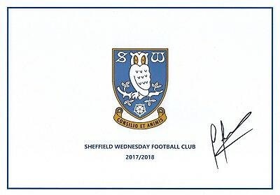 Carlos Carvalhal Hand Signed A4 Sheffield Wednesday Sheet 2017/18