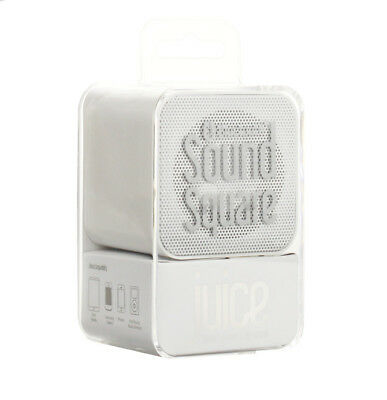 Offical Juice Sound Square Portable Bluetooth Speaker Ultra-Lightweight - White