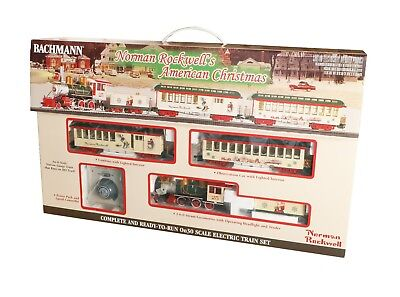 Bachmann On30 25023 Norman Rockwell's American Christmas Ready to Run Train Set