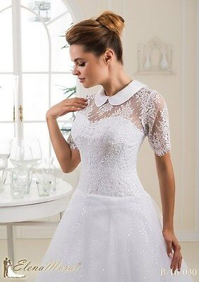 NEW Ivory Lace Bolero Shrug Wedding Jacket Short Sleeve -16030