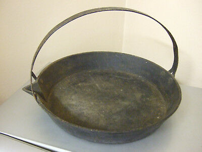 """Vintage Cast Iron Gypsy Skillet Frying Pan 12"""""""