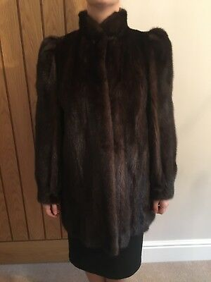Dark Brown Mink Coat - Size 8/10