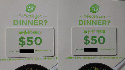 HelloFresh $50 Off Code + Gift Card Meal Kit Delivery Service