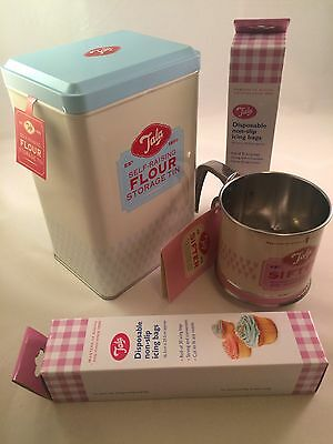 Tala Flour Baking Set Tin Sifter Icing Bags Get Ready For Great British Bake Off