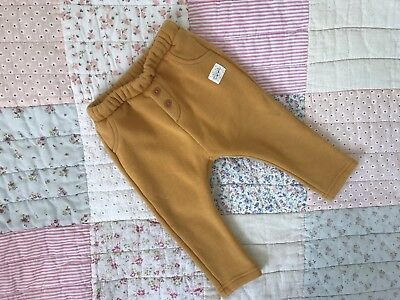 Unisex Zara Yellow Bottoms Trousers 6-9 Months Girls Or Boys