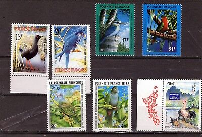Fr.Polynesia small grop of modern Birds issues Mtd MINT