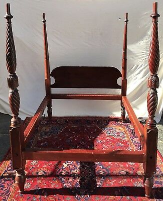 18Th Century Salem Massachusetts Four Tall Poster Tester Bed