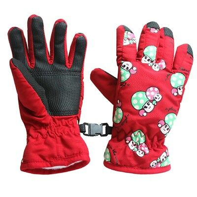 Non-slip, for 2-4 year old children, ski skate gloves (red) G7C7