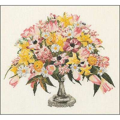 """Spring On Aida Counted Cross Stitch Kit 17.5""""X20"""" 16 Count 499994658883"""