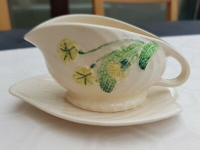 Shorter and son Ltd Handpainted small sauce boat and saucer.