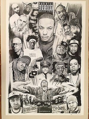 Hip-Hop Icons,2003 By Paul Stone, Rare Authentic  2005 Poster