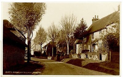 AMBERLEY AILLAGE,SUSSEX-REAL PHOTO-POSTCARD,UNPOSTED.-k-s