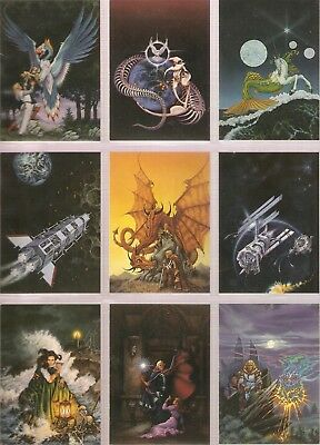 JANNY WURTS complete trading card set (1996 FPG cards) Fantasy Artist