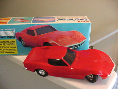 Red Corvette Stingray 1968 Eldon Remote Control Toy Car Touch Command Battery Bx