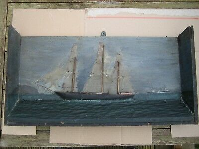 Antique mid to late 19th Century Maritime Diorama in need of restoration