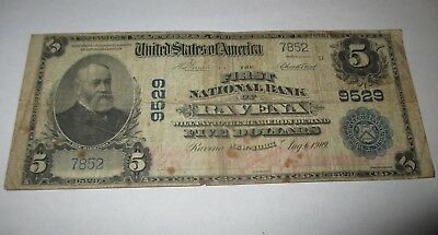 $5 1902 Ravena New York NY National Currency Bank Note Bill! Ch. #9529 RARE