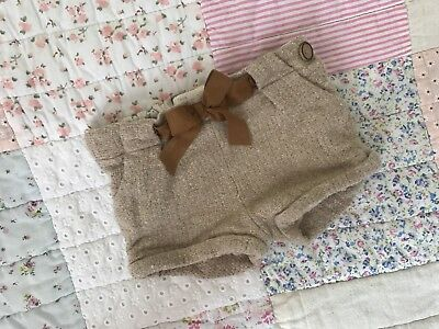 Girls Zara Baby Shorts 6-9 Months