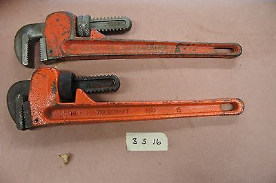 2 Vintage Pipe Wrenches Valued & Trucraft