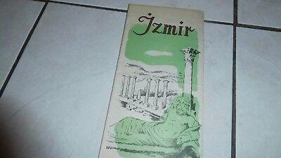 Izmir, Turkey City Map Tourist ,map Travel Brochure 90's Great Item Collect!!!