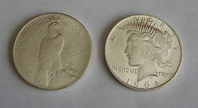 1964 D Peace Dollar -- Fantasy Coin Never Released --  Brilliant Uncirculated