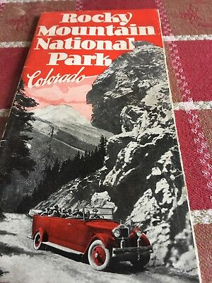 Rocky Mountain National Park Ad 1930's