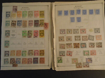Hungary Collection On Album Pages Very Old Mh/used Stamps