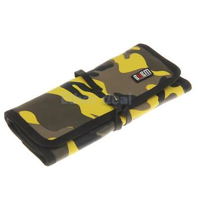 Foldable Travel Carrying Case Storage Bag USB/Memory Card /Cable Wire Yellow
