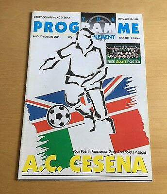 1994/1995 DERBY COUNTY v AC CESENA 6/9/94 Anglo Italian Cup