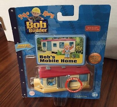 2006 Bob the Builder Take Along Bob's Mobile Home Die-Cast Toy Vehicle 3+ HIT