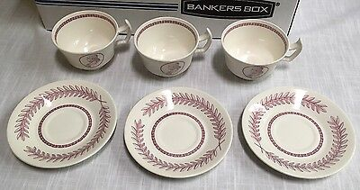 University Of Pennsylvania 1960 Wedgwood Cup And Saucer Ben Franklin Lot Of 3