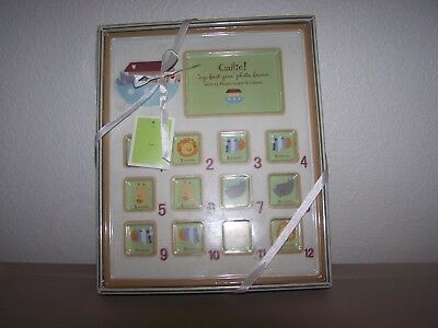 """Cudlie Baby's 1st Year Monthly 12"""" X 10"""" Photo Picture Frame Holds 13 Photos NEW"""