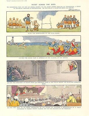 LARGE Collection  Punch RUGBY Cartoons