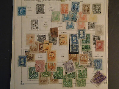 Fantastic Mexico Collection On Album Pages Very Old Mh/used Stamps