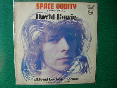 "David Bowie""space Oddity""super Rare 7"" Spanish Unique Sleeve Philips 1970 Spain"