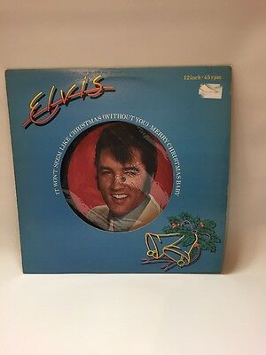 "Elvis Presley - 1979 - ""It Won't Seem Like Christmas"" - 12"" single - PC9464  VG+"