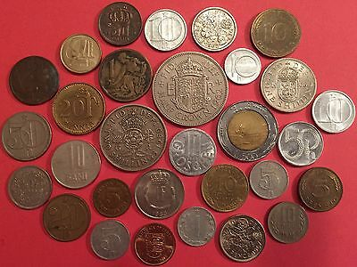 Lot of 30 collectible coins of Europe EUR L02