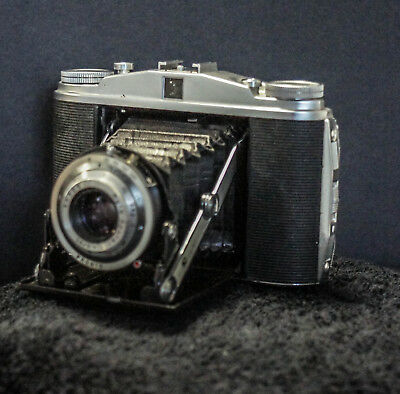 Agfa Isolette with Apotar 85mm F:4.5  CLA'd New Bellows  120 Film Camera