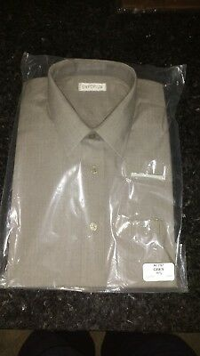 Gents Grey  Shirt By Emporium Size 16.5 Collar (42Cms) Regular Fitting