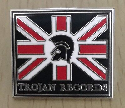 Trojan Records Enamel Pin Badge - Skinhead, Reggae, Punk , Mod, Ska