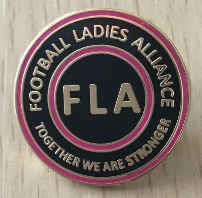 Football Ladies Alliance Official Enamel Pin Badge - Together We Are Stronger