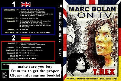 Marc Bolan - T.rex On Tv Double Dvd Set - Donated For Memorial Fund Raising :-)
